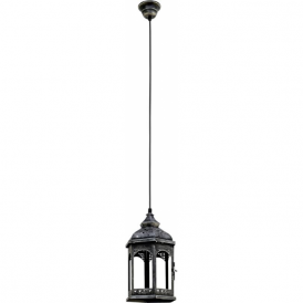 49225 Redford1 1 Light Ceiling Lantern Antique Silver