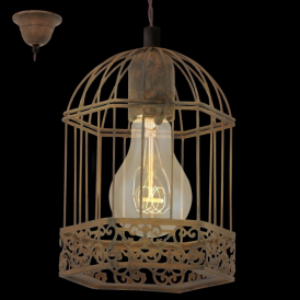49217 Harling 1 Light Ceiling Pendant Rustic