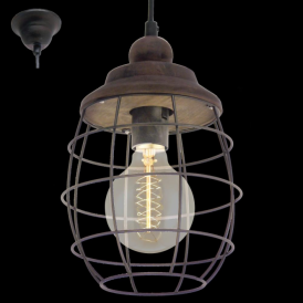 49219 Bampton 1 Light Ceiling Pendant Rustic