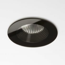 5734 Vetro Round Fire-rated LED Downlight IP65 Black