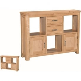 10093 Treviso Occasional Oak Low Display Unit