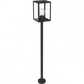 94833 Alamonte1 1 Light IP44 Post Lamp Black