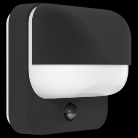 94853 Trabada 1 Light Outdoor IP44 Sensor Wall Light Black