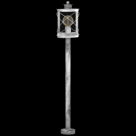 94868 Hilburn1 1 Light IP44 Post Lamp Antique Silver