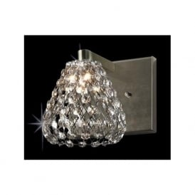 CFH501131/WB/AB Simone 1 Light Crystal Wall Light Antique Brass
