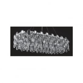CF412181/10/OBL/CH Raina 10 Light Crystal Ceiling Pendant Polished Chrome