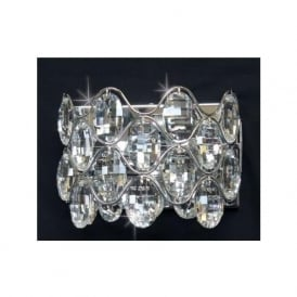 CF412181/02/WB/CH Raina 2 Light Crystal Wall Light Polished Chrome
