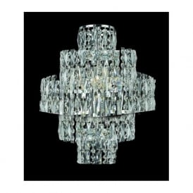 CF03220/WB/CH New York 3 Light Crystal Wall Light Polished Chrome