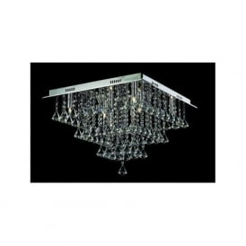 CFH301171/08/PL/CH Parma 8 Light Semi-Flush Ceiling Light Polished Chrome