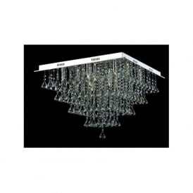 CFH301171/12/PL/CH Parma 12 Light Semi-Flush Ceiling Light Polished Chrome