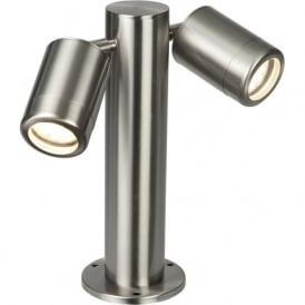 ST501228 Odyssey Outdoor IP65 2 Light Post Lamp Brushed Stainless (Small)