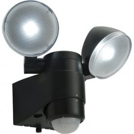 54409 Laryn PIR Battery-Operated LED Security Light IP44 Black