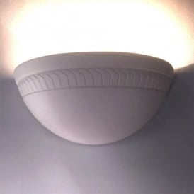 0280HAR Harrogate 1 Light Gypsum Wall Light