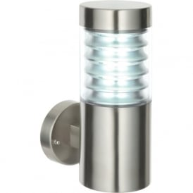 49909 Equinox LED Marine Grade Wall Light Brushed Steel IP44