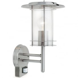 4479782 York Outdoor Wall Light Polished Steel IP44