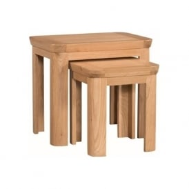 10098 Treviso Occasional Oak Nest of Tables