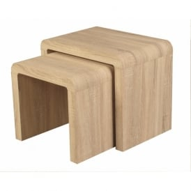 09342 Encore Sonoma Nest of 2 Tables Oak Veneer