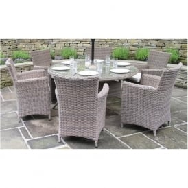 18-040 Cambridge Champagne 6 Seater Dining Set