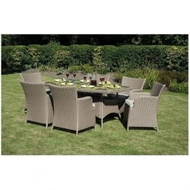 18-089 Cape Town Cappuccino 6 Seater Dining Set