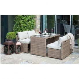 18-093 Miami Natural Mocha 4 Seater Dining Set