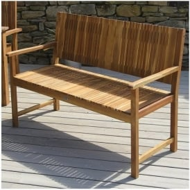 18-069-BE Fairhaven 2 Seater Acacia Wood Bench