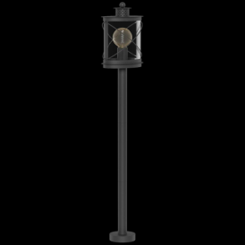 94844 Hilburn 1 Light IP44 Post Lamp Black