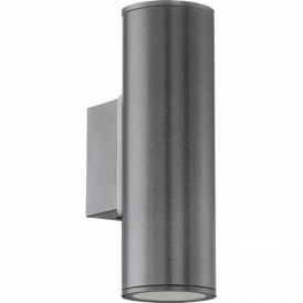 94103 Riga 2 Light LED IP44 Wall Light Anthracite