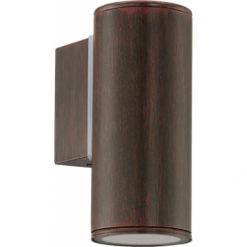 94104 Riga 1 Light LED IP44 Wall Light Antique Brown