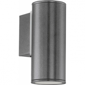 94102 Riga 1 Light LED IP44 Wall Light Anthracite
