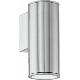 94106 Riga 1 Light LED IP44 Wall Light Stainless Steel