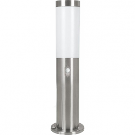 83279 Helsinki 1 Light Motion Sensor Post Lamp Stainless Steel