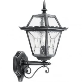 YG-4500 Riverdale 1 Light Outdoor Wall Light Black/Silver IP44