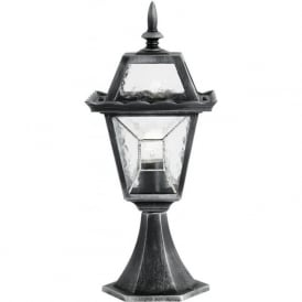 YG-4501 Riverdale Outdoor Short Post Lamp Black/Silver IP44