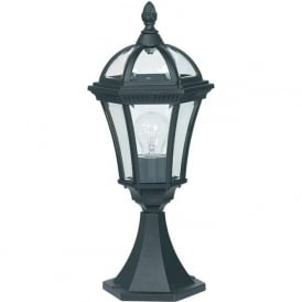 YG-3502 Drayton Outdoor 1 Light Small Post Lamp Black IP44