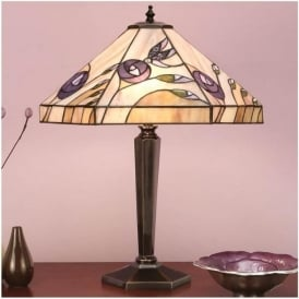 64038 Damselfly 2 Light Tiffany Table Lamp