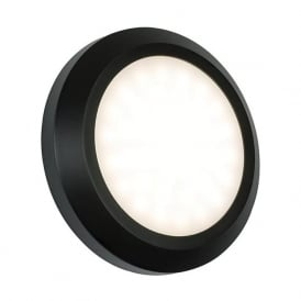 61220 Severus Round LED Wall Light IP65 Black