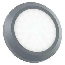 EL-40108 Severus Round LED Wall Light IP65 Grey