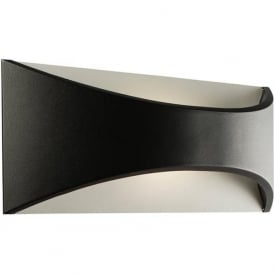 61865 Vulcan Large Outdoor LED Wall Light IP65 Black
