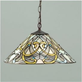 64054 Dauphine 1 Light Tiffany Ceiling Pendant