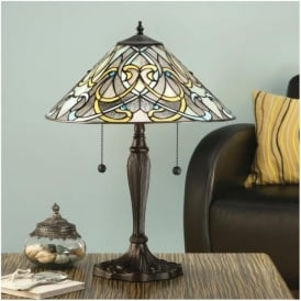 64055 Dauphine 2 Light Tiffany Table Lamp