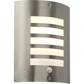 ST031FPIR Bianco Outdoor Sensor Wall Light Stainless Steel IP44