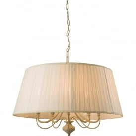 60934 Chester 5 Light Ceiling Light Brushed Gold