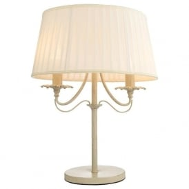 60762 Chester 2 Light Table Lamp Brushed Gold