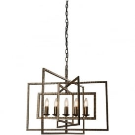 61017 Tibbet 5 Light Ceiling Pendant Bronze