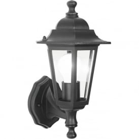 S6645 Dual-mounting Traditional Wall Lantern Black IP44
