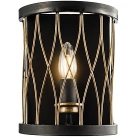61499 Heston 1 Light Wall Light Black/Bronze