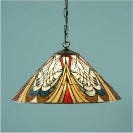64162 Hector 1 Light Medium Tiffany Ceiling Pendant