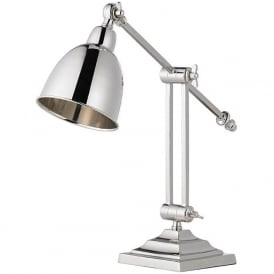 EH-RASKIN-TL Jackson Table Desk Lamp Polished Nickel