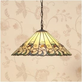 64193 Jamelia 1 Light Tiffany Medium Ceiling Pendant