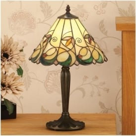 64195 Jamelia 1 Light Tiffany Medium Table Lamp